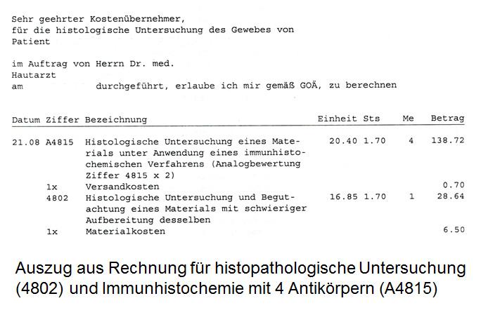 Fragen Zur Rechnung Zentrum Fur Dermatopathologie Freiburg 4